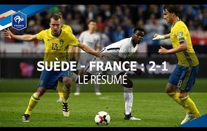 SUEDE - FRANCE (2-1)